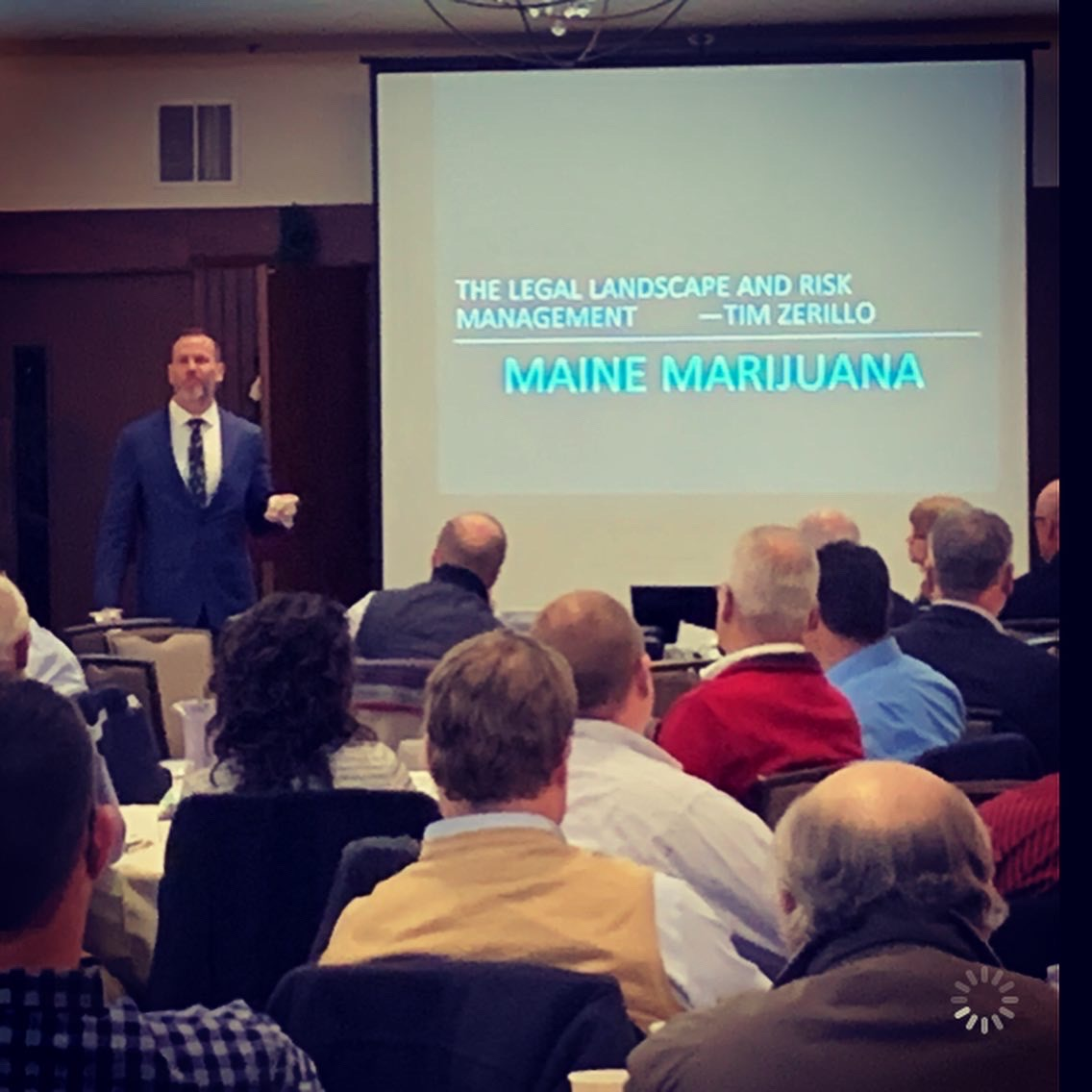 Tim Zerillo Speaking in Portland, Maine on December 17, 2019
